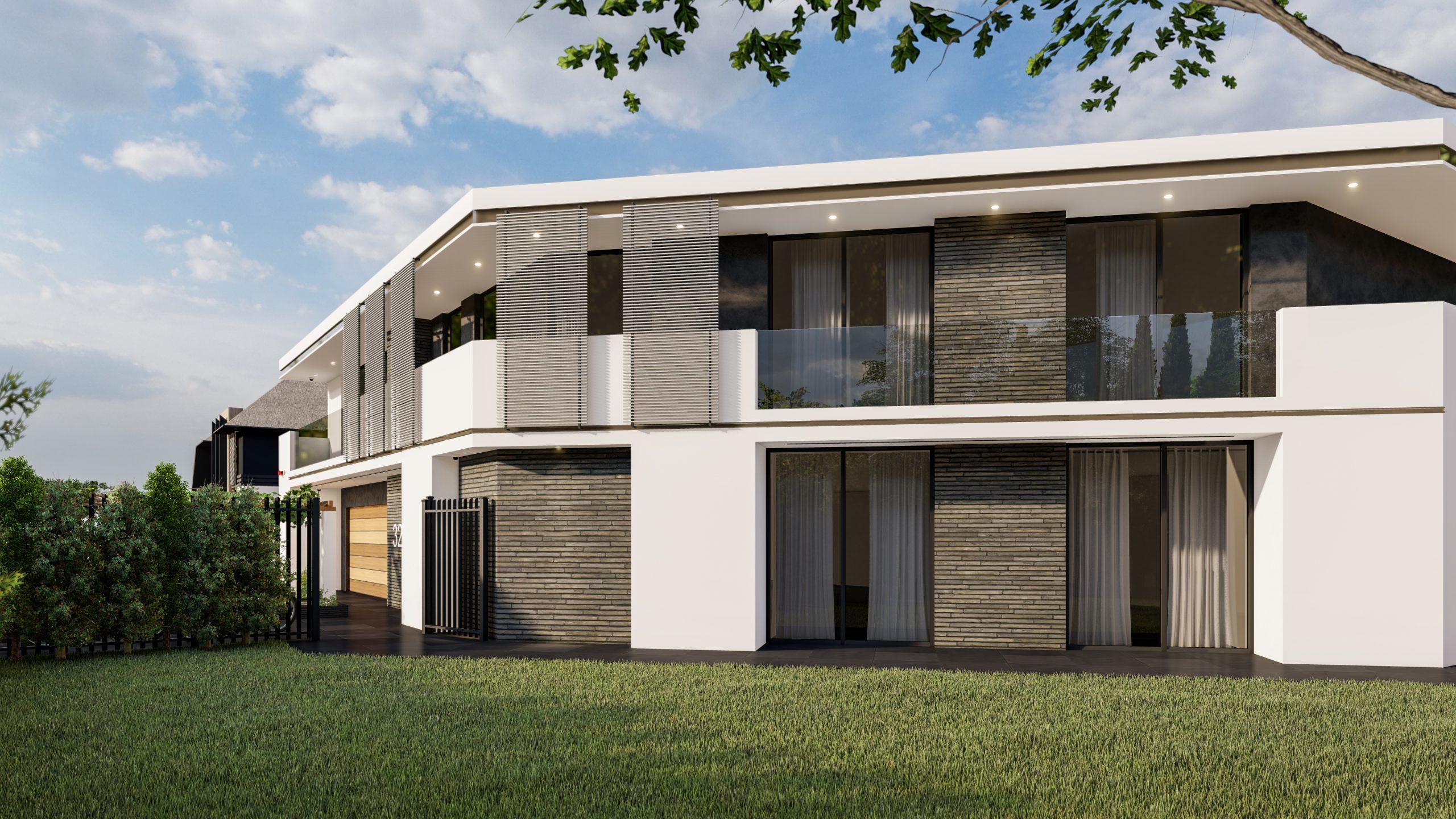 Witte moderne Villa Artisize