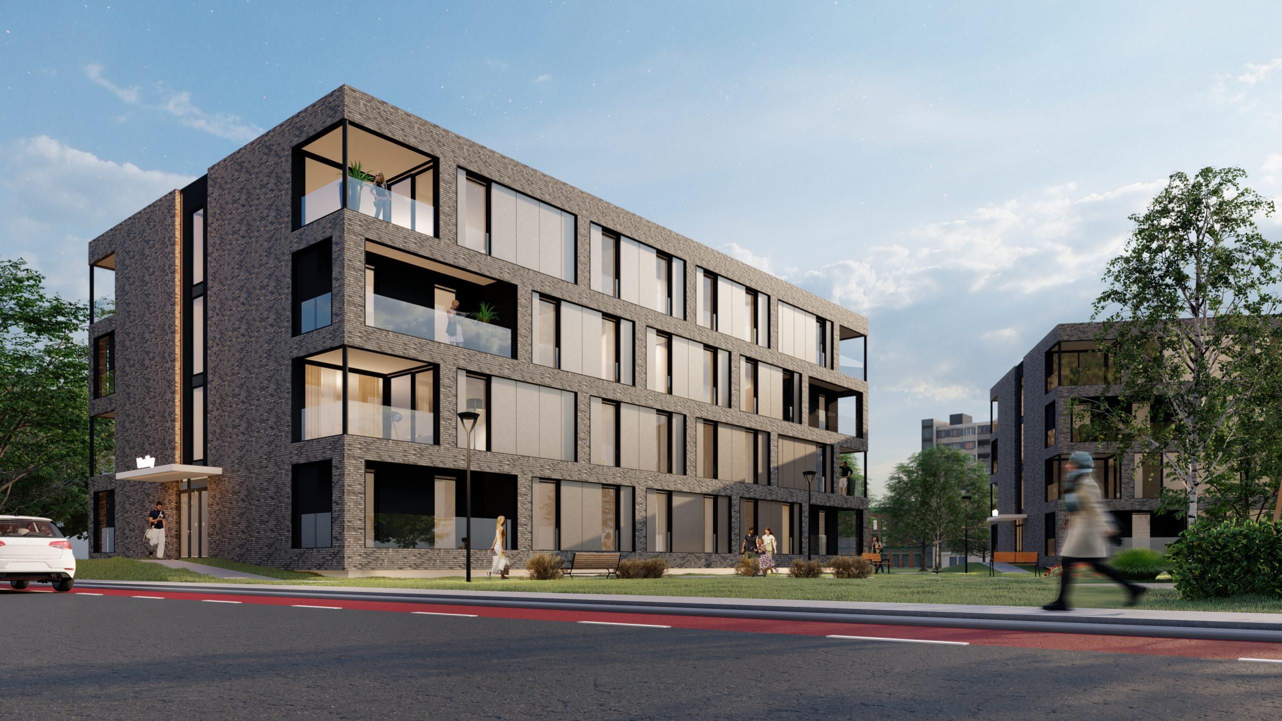3D visualisatie appartementen complex